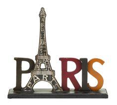 Paris Table Décor Letter Block