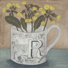 'Alphabet cup and cowslip' Debbie George www.debbiegeorge.co.uk