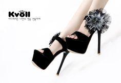 Kvoll - 2013 Summer New Diamond Floral Platform High Heel Sandals ID 00041748 - Pumps : Paccony.com