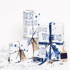 'These Wishes Are All For You' [beautiful gift wrap design!]