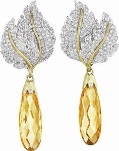 BUCCELLATI   BUCCELLATI. A Pair of Citrine and Diamond Ear Pendants . Photo Philips ...