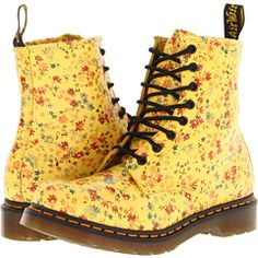 Dr. Martens 1460 8-Eye Boot Sun Yellow Little Flowers - Zappos.com Free Shipping BOTH Ways