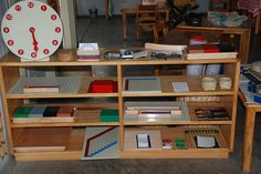 Math shelf from The Montessori Prepared Environment 027 by sew liberated, via Flickr