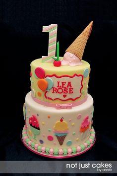 Ice Cream and Balloon cake