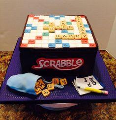 Scrabble Birthday Cake - via @Craftsy course: Basic Fondant Techniques