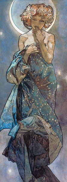 Moon - Alphonse Mucha