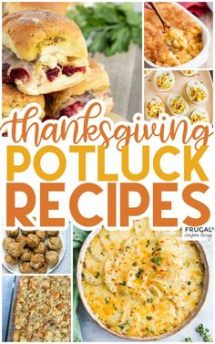 Potlucks can be a lot of fun, particularly during the holiday season. Make one dish, enjoy many dishes. These Thanksgiving Potluck Recipes include easy main dinner entrees, Thanksgiving side dishes, and pumpkin desserts. Use these ThanksgivingPotluck ideas for a friendsgiving or a family gathering. #FrugalCouponLiving #thanksgivingrecipes #potluck #potluckideas #potluckrecipes #thanksgivingpotluck #friendsgiving #friendsgivingrecipes #friendsgivingideas #thanksgivingideas #sidedishes…