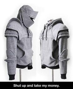 Knight's armor hoodie Chadwick John Dillon