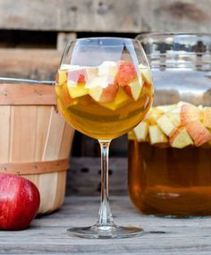 halloween party decor caramel apple sangria