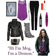 "Supernatural Meg the Demon ""Meg Masters/Outfit46"" by wellheyitsslendy on Polyvore"