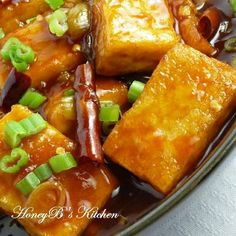 General Tso's.....Tofu!  cut back the sugar to 1/3 cup or less and the ginger to 1 TBsp. Use fresh OJ instead of water and grate some of the peel into the sauce. Added 8-10 drops sirracha. Thicken up with some cornstarch.  For 1  small block tofu, 1/2 the recipe. this would be great on chicken too!