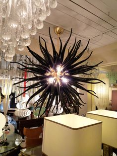 black glass chandelier - Dale Chihuly