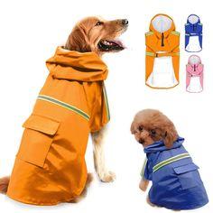 Waterproof Dog Coats, Waterproof Rain Jacket, Pet Dogs, Dogs And Puppies, Pets, Doggies, Dog Raincoat, Raincoat Jacket, Big Dogs