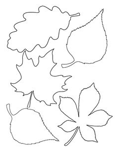 idea-activity-manual-fall-kindergarten-template-dead leaves-to-print-easy DIY Butterfly Template, Flower Template, Leaf Crafts, Fall Crafts, Maple Leaf Template, Leaf Cutout, Autumn Leaves Craft, Leaf Stencil, Easy Coloring Pages