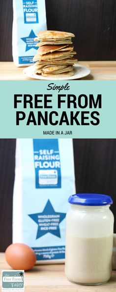 Create these delicious gluten free, dairy free pancakes in a jar. It's so simple, add the ingredients to a jar, shake and cook. Even the kids can do this!