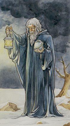 IX. The Hermit: Lo Scarabeo Tarot