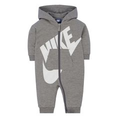803f16118ac Baby Girl Nike Gray Futura All Day Play Overall
