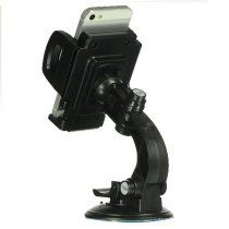 Securely mount your device in your vehicle with this universal car mount holder. Padded side grips / wings help protect you cell phone, PDA, iPod / MP3 player and GPS devices from scratch. 360 degrees rotatable design lets you position your unit where you need it. Can be mounted onto the windshield with the suction cup, or hook onto the AC vent with the clip hook. http://mylinksentry.com/fj91