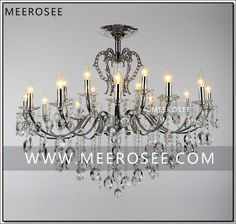 Find More Chandeliers Information about Large18 Arms Vintage Silver Chandelier…