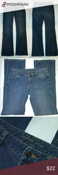 "Michael Kors Straight Leg Denim Jeans Size 4 Preloved condition. Inseam: 32"" Michael Kors Jeans Straight Leg"