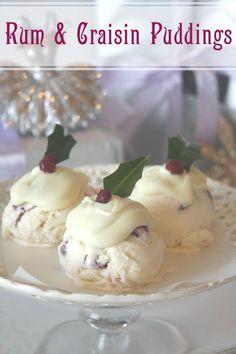 Rum & Craisin Christmas Ice Cream Puddings