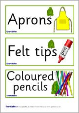 Alder Tree-themed classroom signs and labels pack (SB2821) - SparkleBox