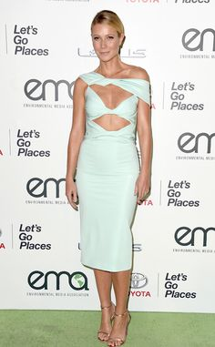 Gwyneth Paltrow in Cushnie et Ochs from 2015 Environmental Media Awards  The recipient of the 2015 EMA Green Parent Award stuns and saves on materials.