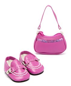 Look at this Shoe & Sequin Purse for 18'' Doll on #zulily today!