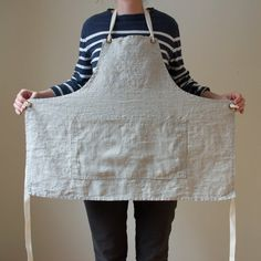 Apron No. 1 in Flax by smallbatchproduction on Etsy