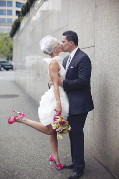 Elegant Sassy In Seattle: An Intimate Courthouse Wedding   Simply Elope. Simply Wedding  DressWedding Dresses Simple ...