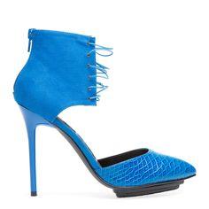Fashion statement shoe loving this bold blue