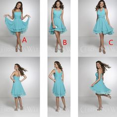 Under$60 Short Beach Bridesmaid Dresses Halter Neck Pleat Knee Length Backless Sky Blue Chiffon 2016 Cheap Summer Country Wedding Guest Gown