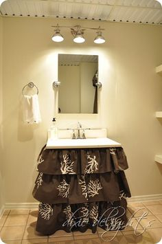 Would love to make a skirt like this for laundry room utility sink.