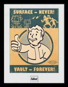 Fallout Poster im Rahmen Vault Forever 45 x 34 cm