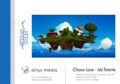 https://flic.kr/p/GpCRSb | Chaos Lore · Isla flotante | Isla flotante para el juego Chaos Lore realizado en Unity 3D.  Modelado con Trimble SketchUp  Tamaño: 235 x 121 cm a 300ppp