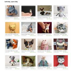 Soft kitty, warm kitty Treasury by Ermellin on Etsy