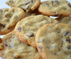 Thin paleo, gluten-free cookies are dotted with rich chocolate chips.