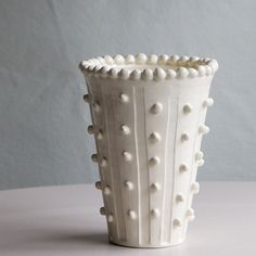 Vase with Column Beads | Frances Palmer Pottery
