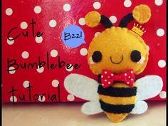 Cute Felt Bumblebee Tutorial
