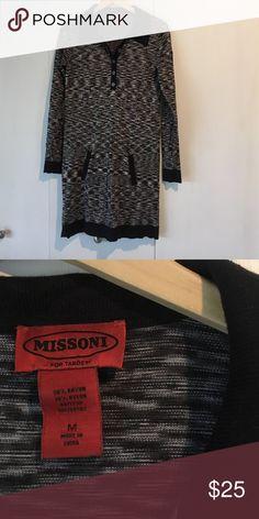 Missing for Target shirtdress Supersoft stretchy knit shirt dress with kangaroo pocket. Missoni Dresses Mini