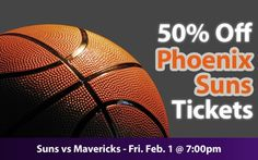 $30 (50% off) Phoenix Suns Tickets vs Dallas Mavericks Fri. Feb. 1 @ 7:00pm - Crowd Seats Cheap Sports Tickets
