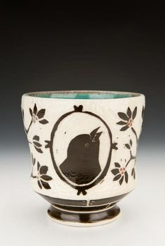 Sgraffito on Porcelain, Yunomi by Karen Newgard