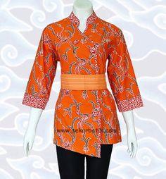Blus Batik BKH88  Batik Solo  Pinterest  Batik solo Kebaya and