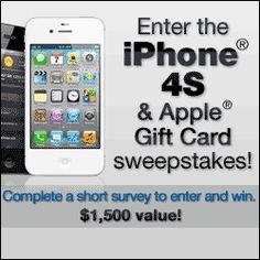 Free Apple iPhone 4s