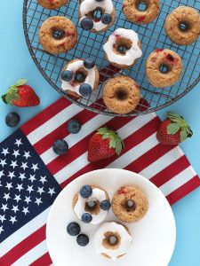 Red, White and Blue Baked Doughnuts - The Breakfast Drama Queen