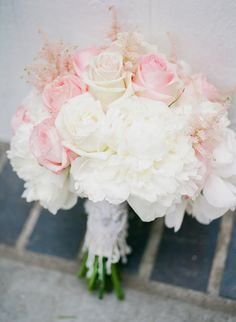 Ivory and blush astible, hydrangea, peony, and rose wedding bouquet: Photography: Hello Blue Photo - www.hellobluephoto.com   Read More on SMP: http://www.stylemepretty.com/california-weddings/2016/10/17//