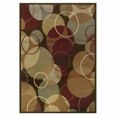 Rico Geometric Brown & Gold Rug