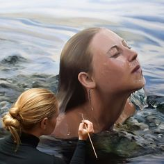 35 Most Beautiful Oil Paintings from Top Artists around the world Foto Picture, Underwater Painting, Hyper Realistic Paintings, Pictures To Paint, Beautiful Paintings, Amazing Artwork, Art Studios, Artist At Work, Art Drawings