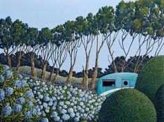 My Blue Heaven by David Owen - Art Prints New Zealand New Zealand Art, Wall Art For Sale, Heaven, Art Prints, Landscape, Blue, Stuff To Buy, Autumn, Artists