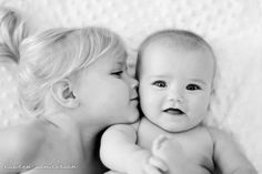 Baby shoot ideas with sibling